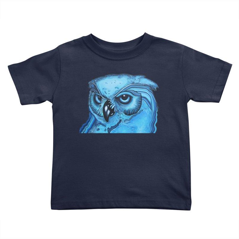 Blue Owl Kids Toddler T-Shirt by Nicole Christman's Artist Shop