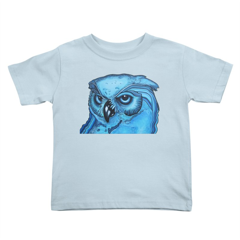 Blue Owl Kids Toddler T-Shirt by Nicole Christman's Artist Shop