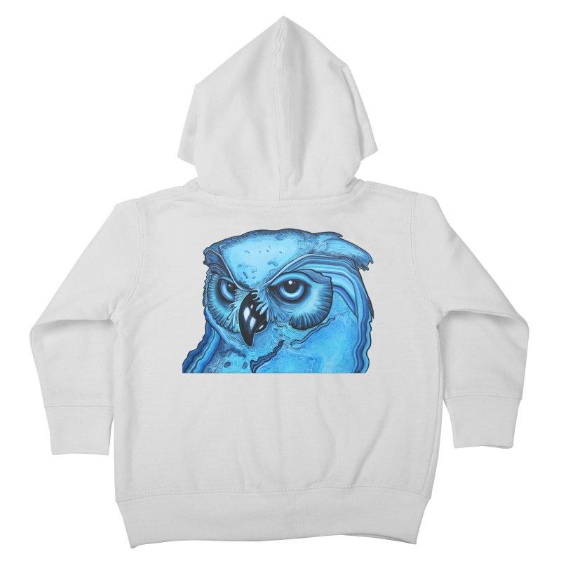Blue Owl Kids Toddler Zip-Up Hoody by Nicole Christman's Artist Shop