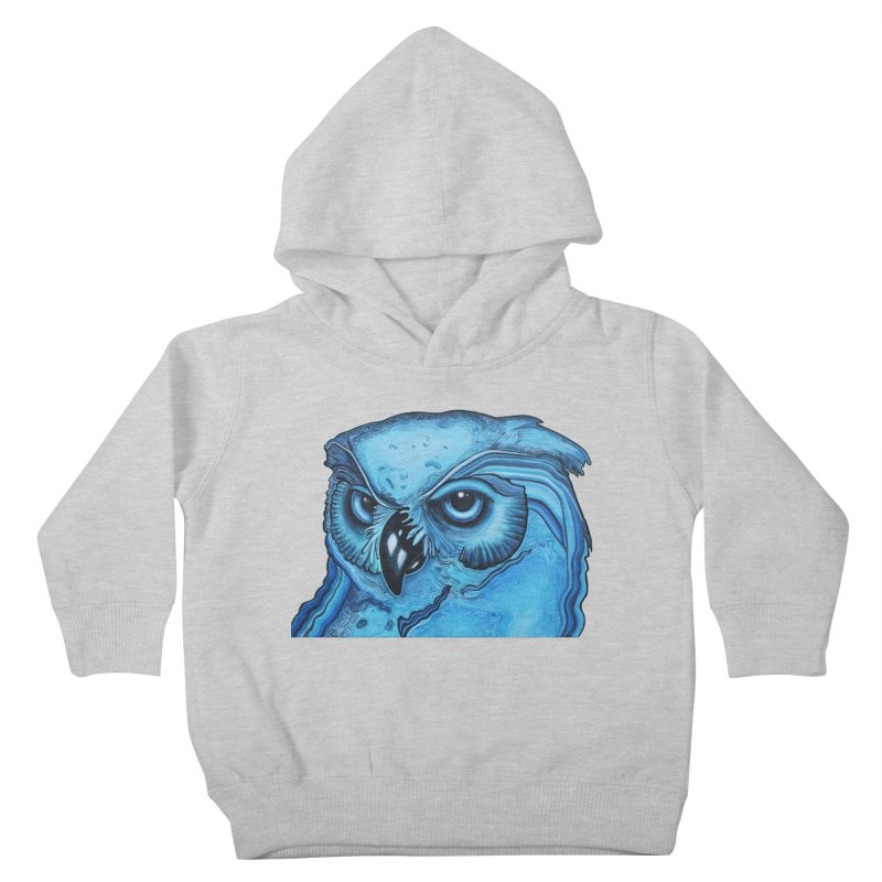 Blue Owl Kids Toddler Pullover Hoody by Nicole Christman's Artist Shop