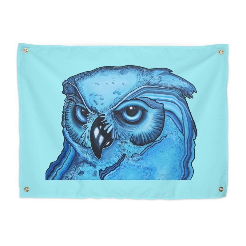Blue Owl Home Tapestry by Nicole Christman's Artist Shop
