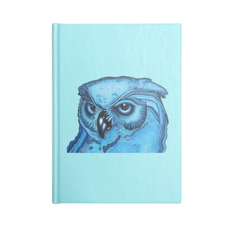 Blue Owl Accessories Lined Journal Notebook by Nicole Christman's Artist Shop