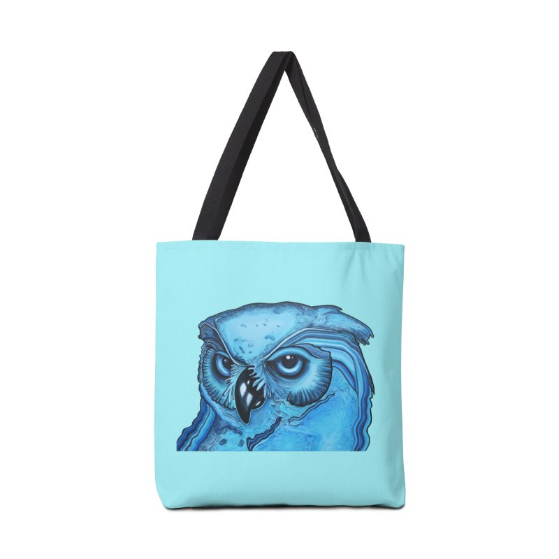 Blue Owl Accessories Tote Bag Bag by Nicole Christman's Artist Shop