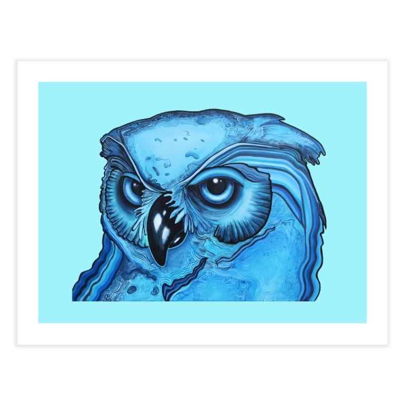 Blue Owl Home Fine Art Print by Nicole Christman's Artist Shop