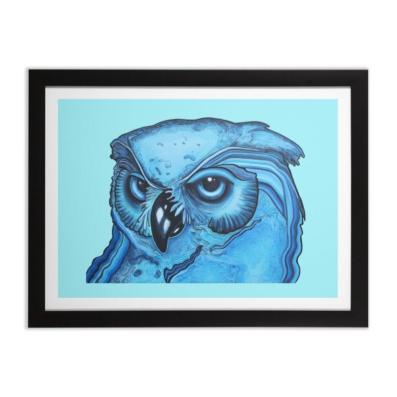 Blue Owl Home Framed Fine Art Print by Nicole Christman's Artist Shop