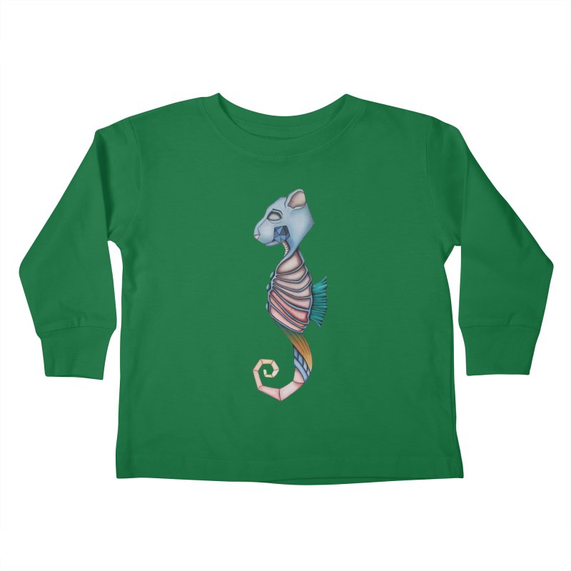 Sea Bear Kids Toddler Longsleeve T-Shirt by Nicole Christman's Artist Shop