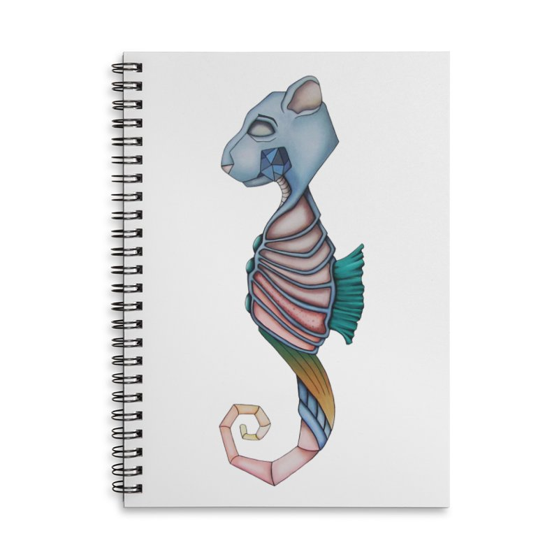 Sea Bear Accessories Lined Spiral Notebook by Nicole Christman's Artist Shop
