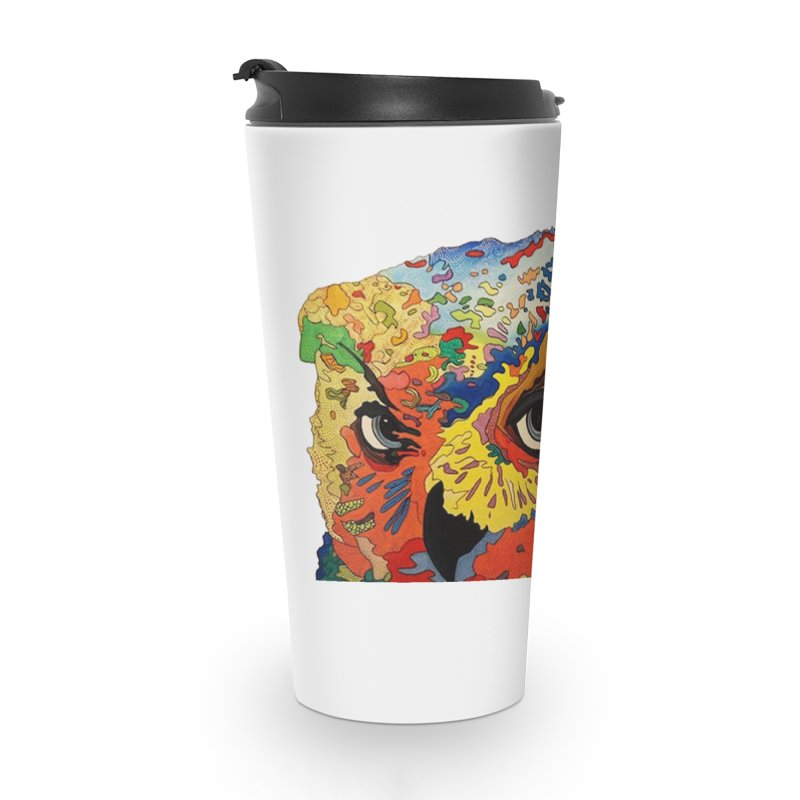 Nocturnal Polka 2 Accessories Travel Mug by Nicole Christman's Artist Shop