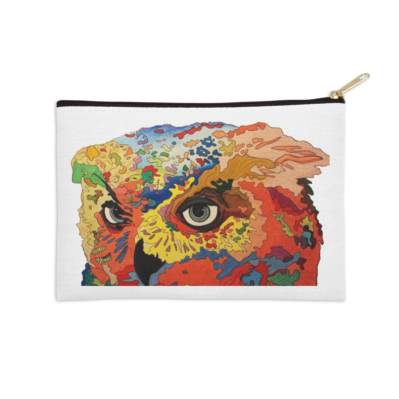 Nocturnal Polka 2 Accessories Zip Pouch by Nicole Christman's Artist Shop