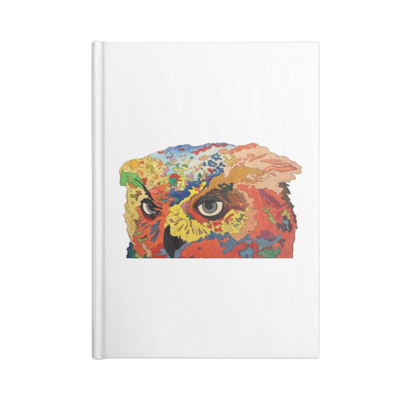 Nocturnal Polka 2 Accessories Lined Journal Notebook by Nicole Christman's Artist Shop