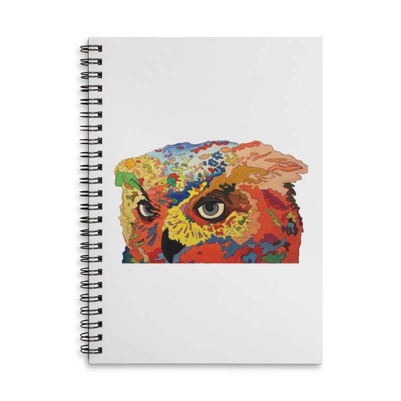 Nocturnal Polka 2 Accessories Lined Spiral Notebook by Nicole Christman's Artist Shop