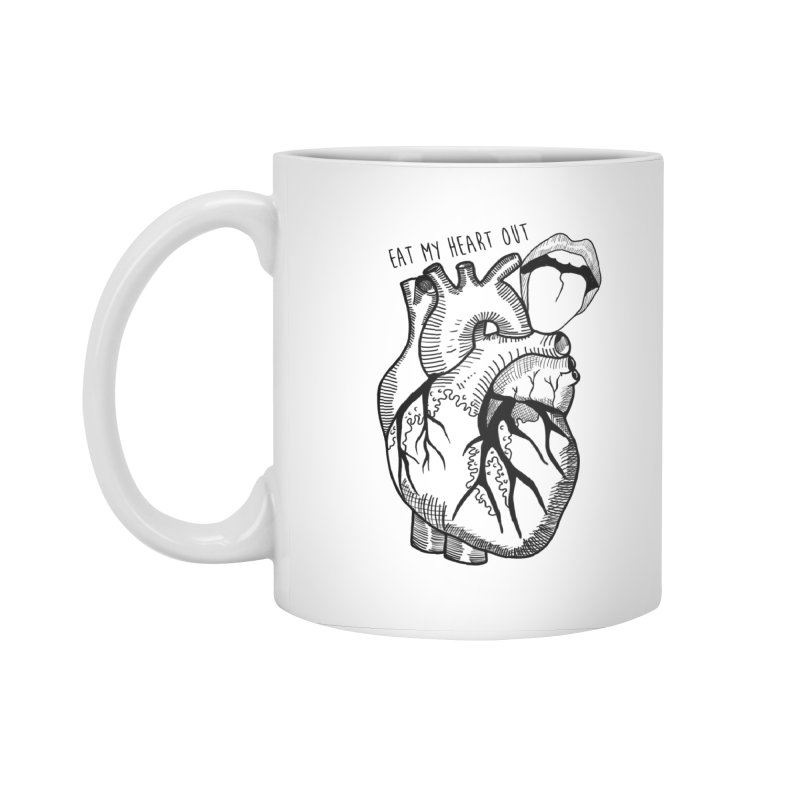Eat My Heart Out Accessories Standard Mug by Nicole Christman's Artist Shop