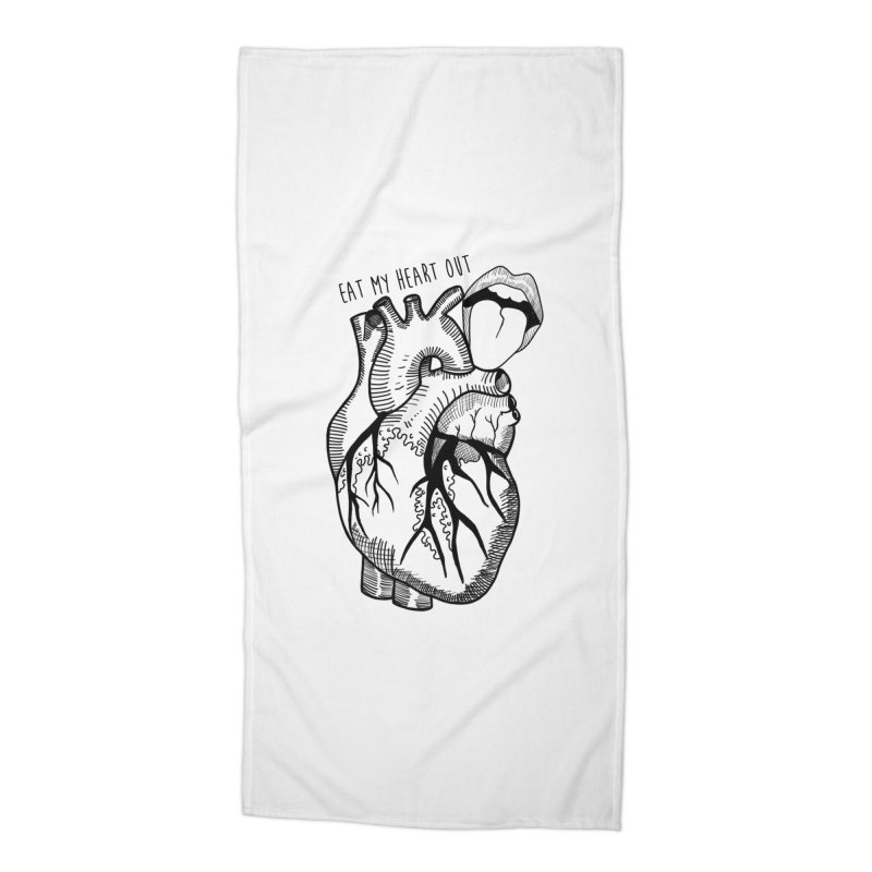 Eat My Heart Out Accessories Beach Towel by Nicole Christman's Artist Shop