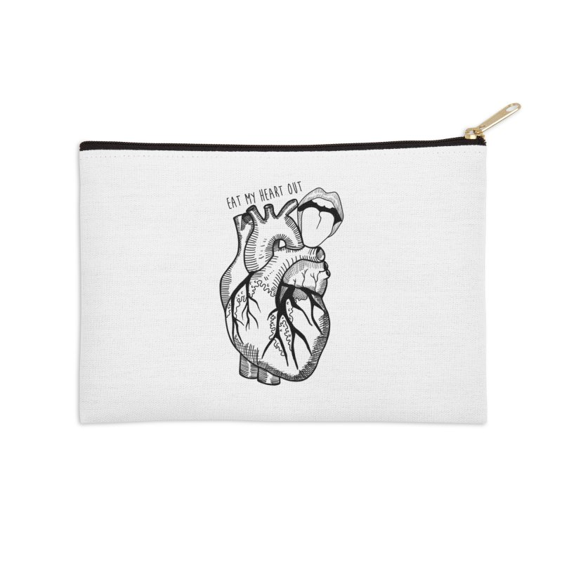 Eat My Heart Out Accessories Zip Pouch by Nicole Christman's Artist Shop