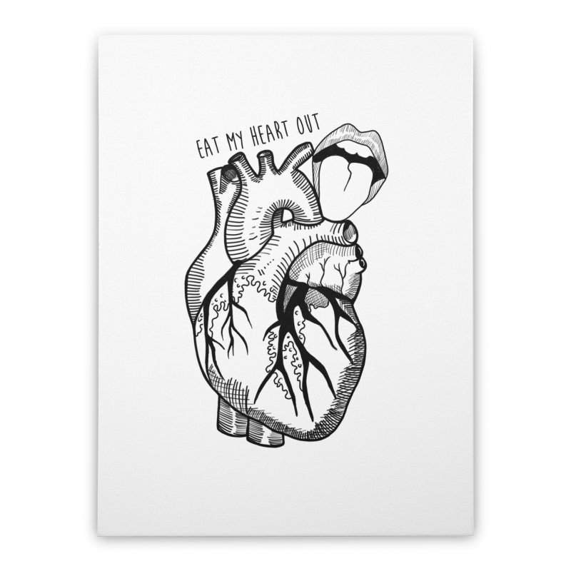 Eat My Heart Out Home Stretched Canvas by Nicole Christman's Artist Shop