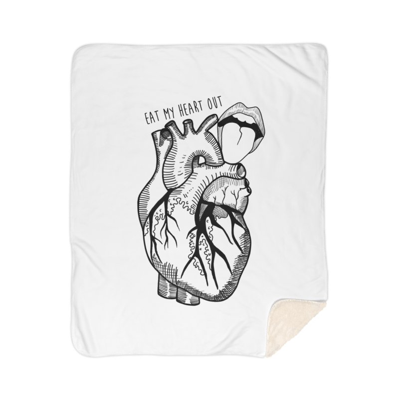 Eat My Heart Out Home Sherpa Blanket Blanket by Nicole Christman's Artist Shop