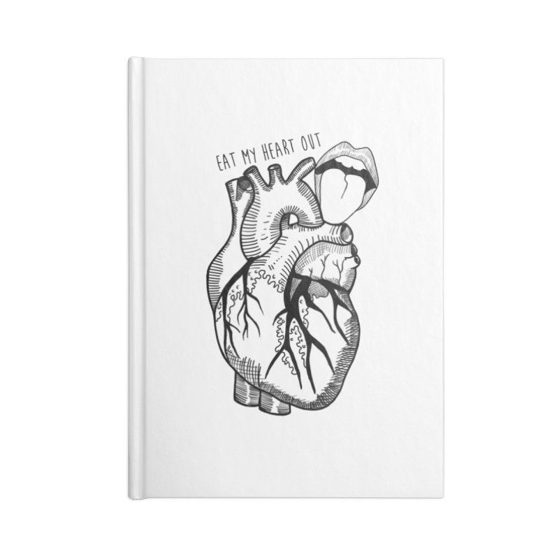Eat My Heart Out Accessories Lined Journal Notebook by Nicole Christman's Artist Shop