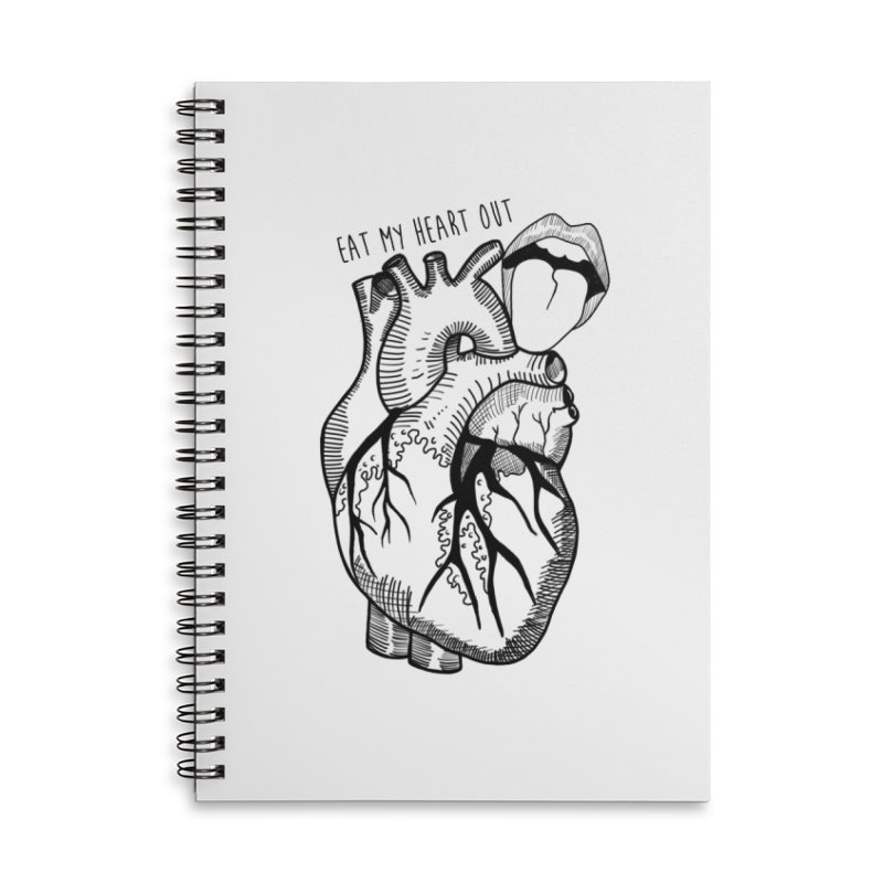 Eat My Heart Out Accessories Lined Spiral Notebook by Nicole Christman's Artist Shop