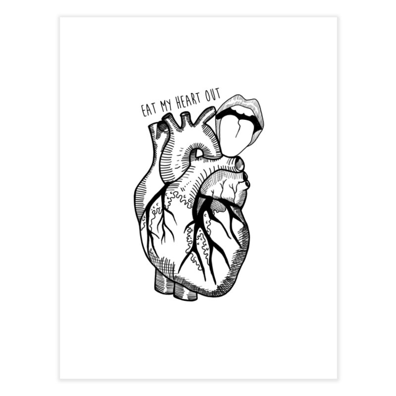 Eat My Heart Out Home Fine Art Print by Nicole Christman's Artist Shop