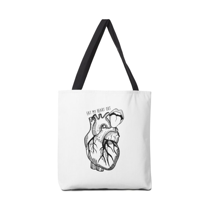 Eat My Heart Out Accessories Tote Bag Bag by Nicole Christman's Artist Shop