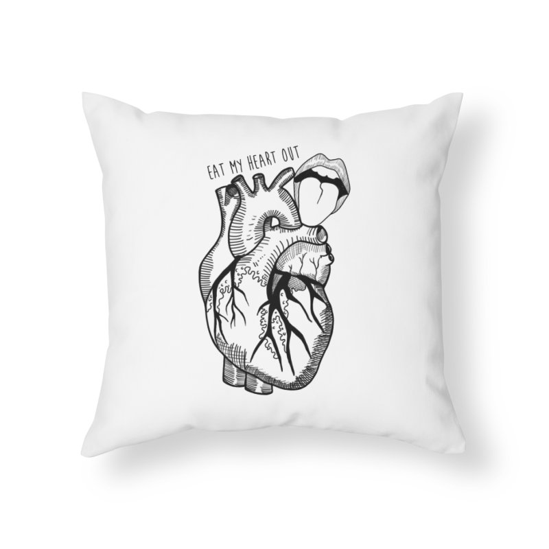 Eat My Heart Out Home Throw Pillow by Nicole Christman's Artist Shop