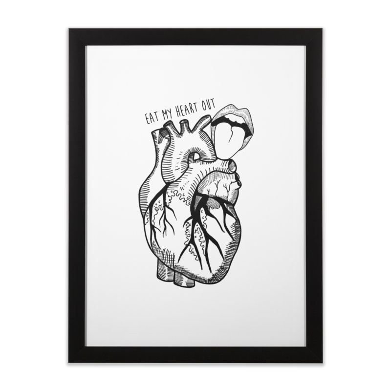 Eat My Heart Out Home Framed Fine Art Print by Nicole Christman's Artist Shop