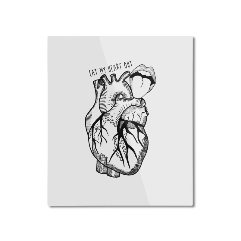 Eat My Heart Out Home Mounted Aluminum Print by Nicole Christman's Artist Shop
