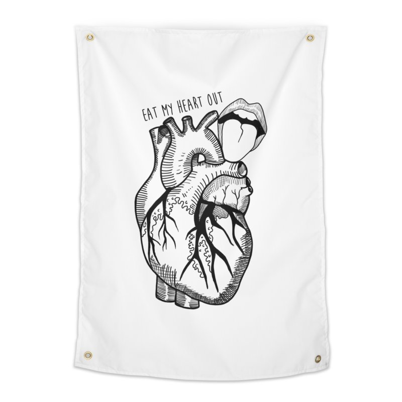 Eat My Heart Out Home Tapestry by Nicole Christman's Artist Shop