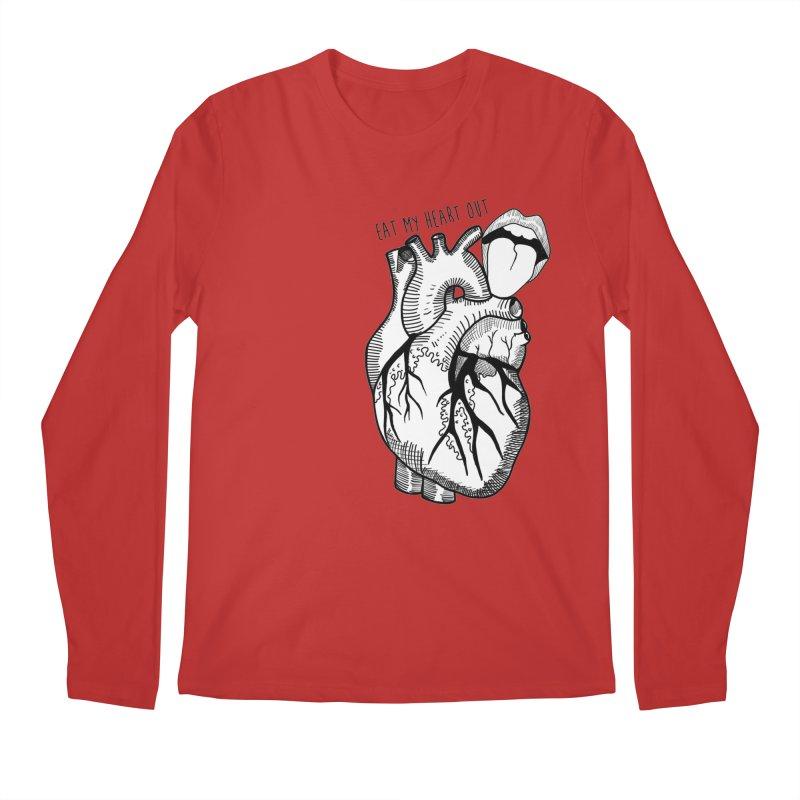 Eat My Heart Out Men's Regular Longsleeve T-Shirt by Nicole Christman's Artist Shop