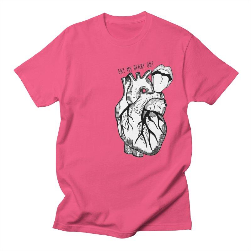 Eat My Heart Out Men's Regular T-Shirt by Nicole Christman's Artist Shop