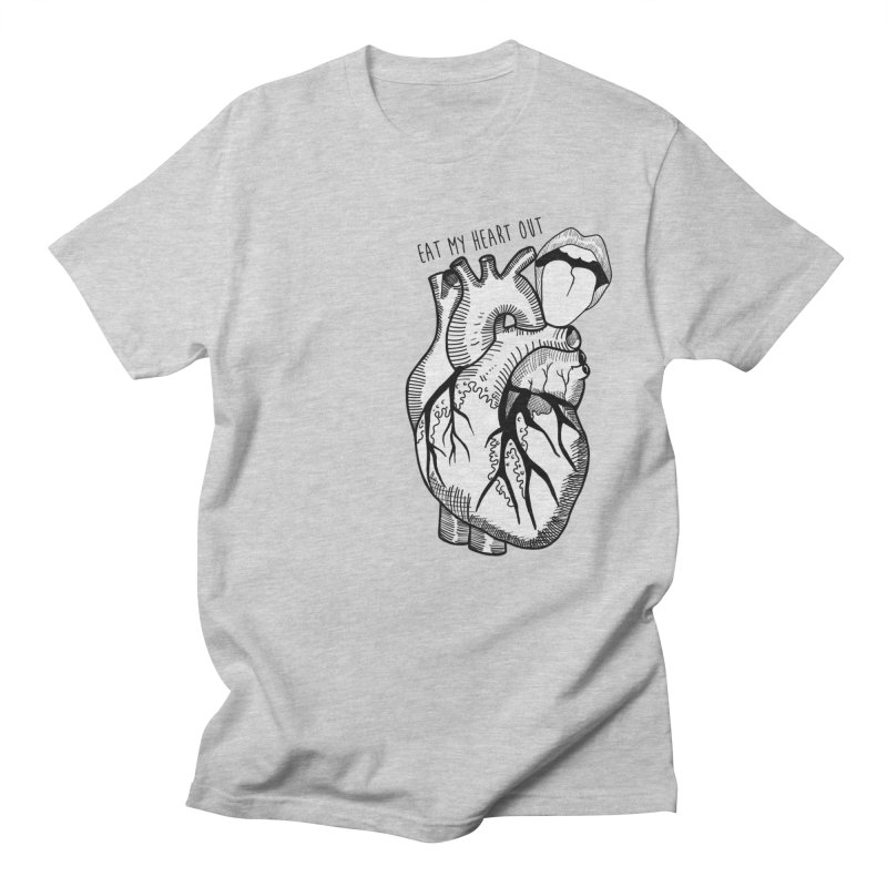 Eat My Heart Out Men's T-Shirt by Nicole Christman's Artist Shop