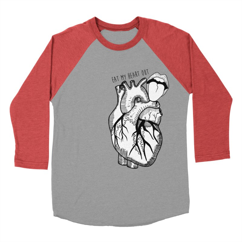 Eat My Heart Out Women's Baseball Triblend Longsleeve T-Shirt by Nicole Christman's Artist Shop