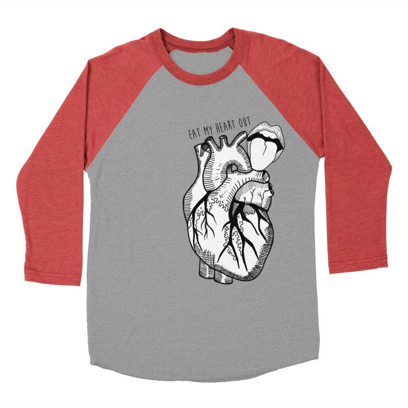 Eat My Heart Out Men's Baseball Triblend Longsleeve T-Shirt by Nicole Christman's Artist Shop
