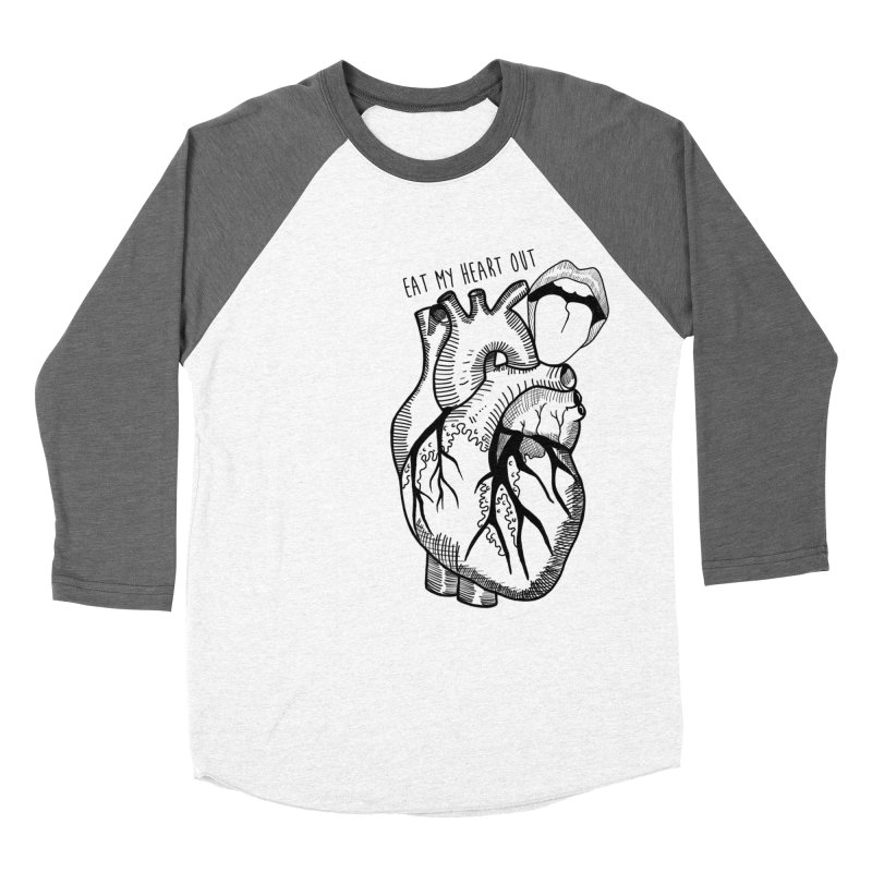 Eat My Heart Out Men's Baseball Triblend Longsleeve T-Shirt by Nicole Christman's Artist Shop