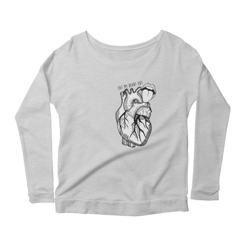 Eat My Heart Out Women's Scoop Neck Longsleeve T-Shirt by Nicole Christman's Artist Shop