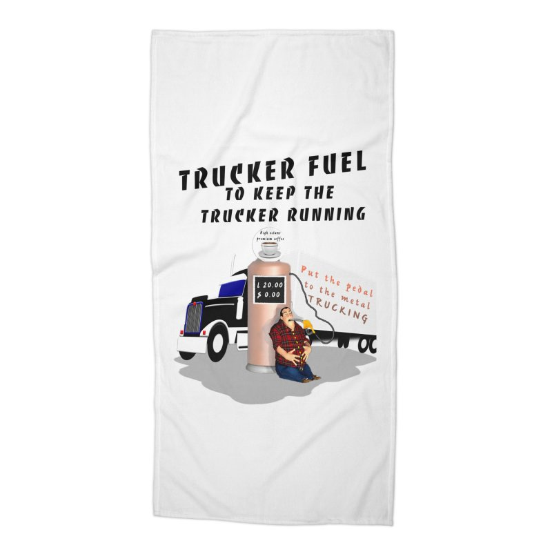 Premium Trucker Fuel Accessories Beach Towel by nicolekieferdesign's Artist Shop
