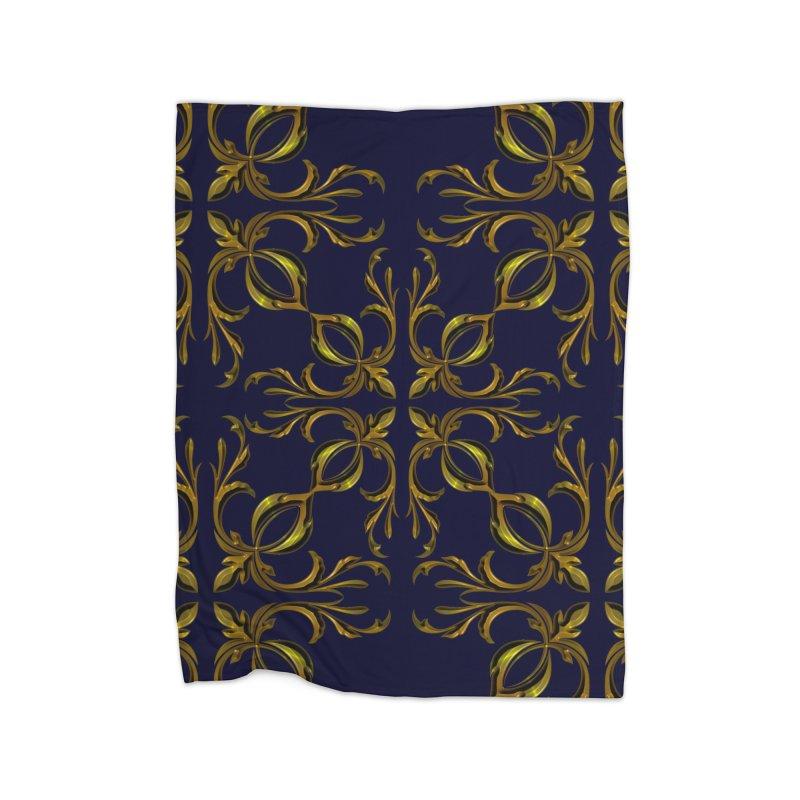 Golden lilies Home Blanket by nicolekieferdesign's Artist Shop