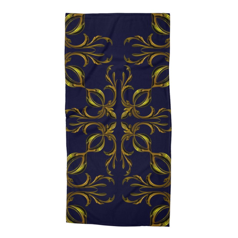 Golden lilies Accessories Beach Towel by nicolekieferdesign's Artist Shop