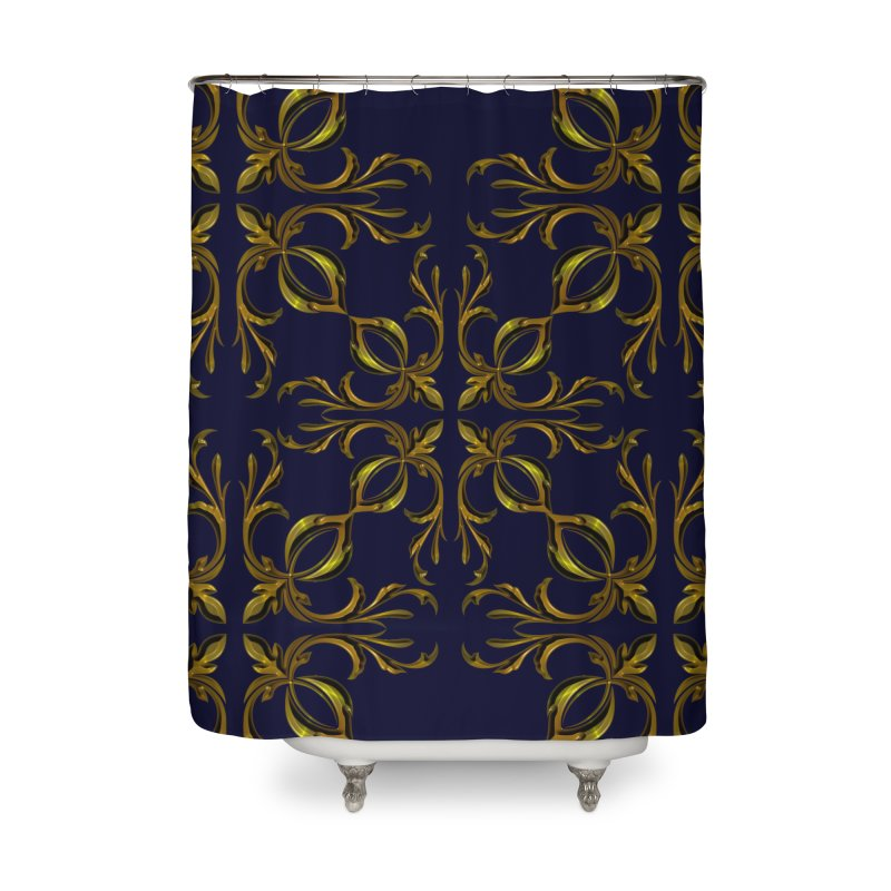 Golden lilies Home Shower Curtain by nicolekieferdesign's Artist Shop