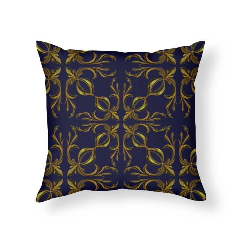 Golden lilies Home Throw Pillow by nicolekieferdesign's Artist Shop