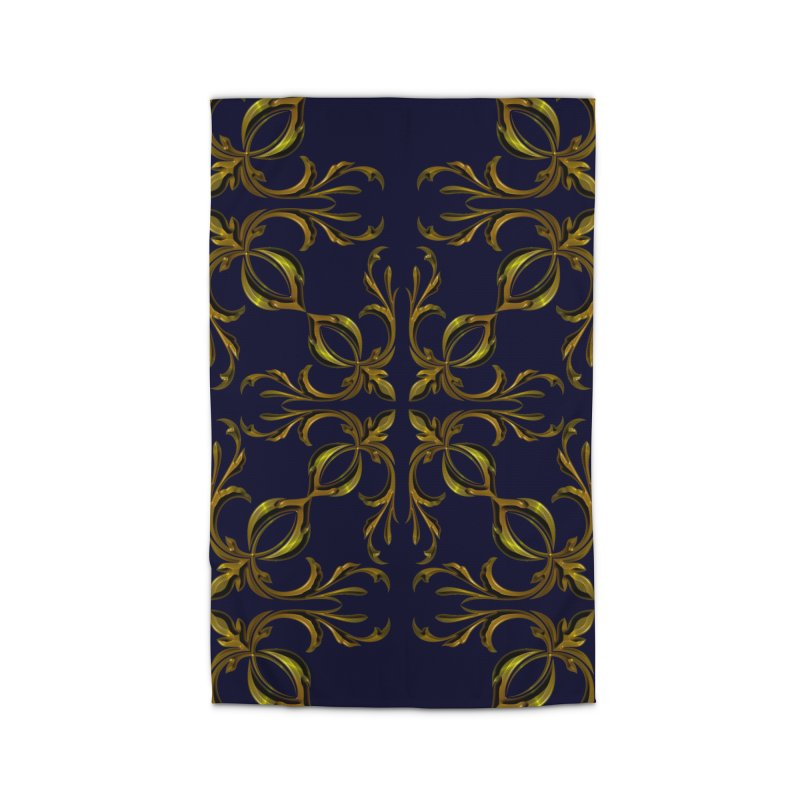 Golden lilies Home Rug by nicolekieferdesign's Artist Shop