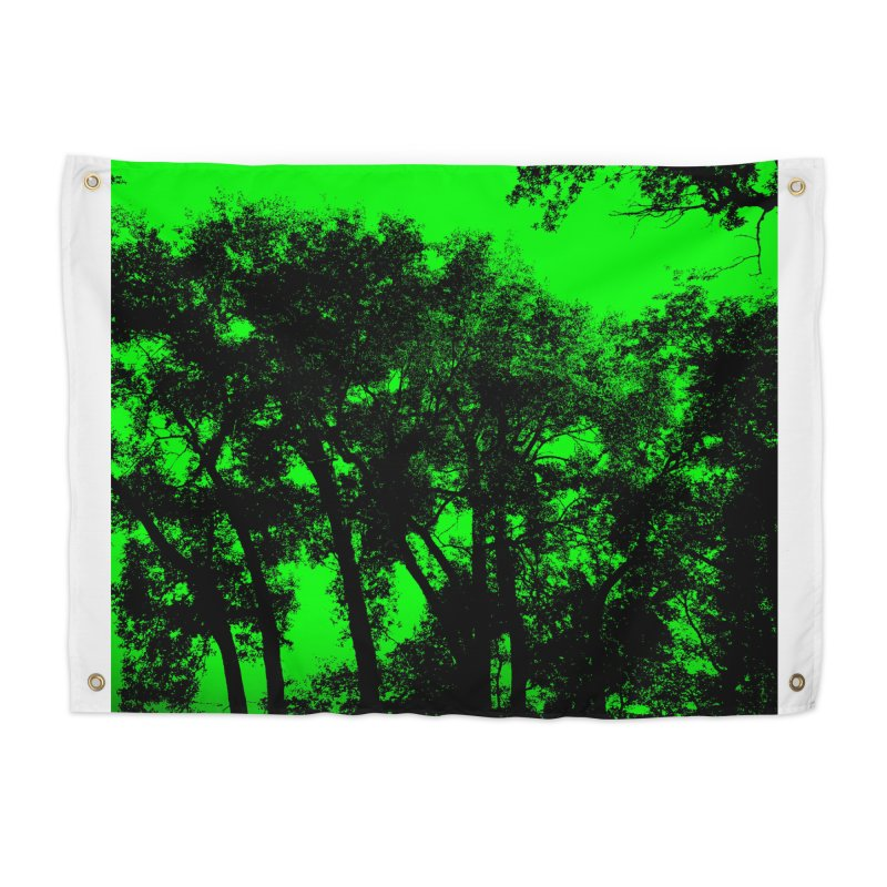 Trees silhoutte on green Home Tapestry by nicolekieferdesign's Artist Shop