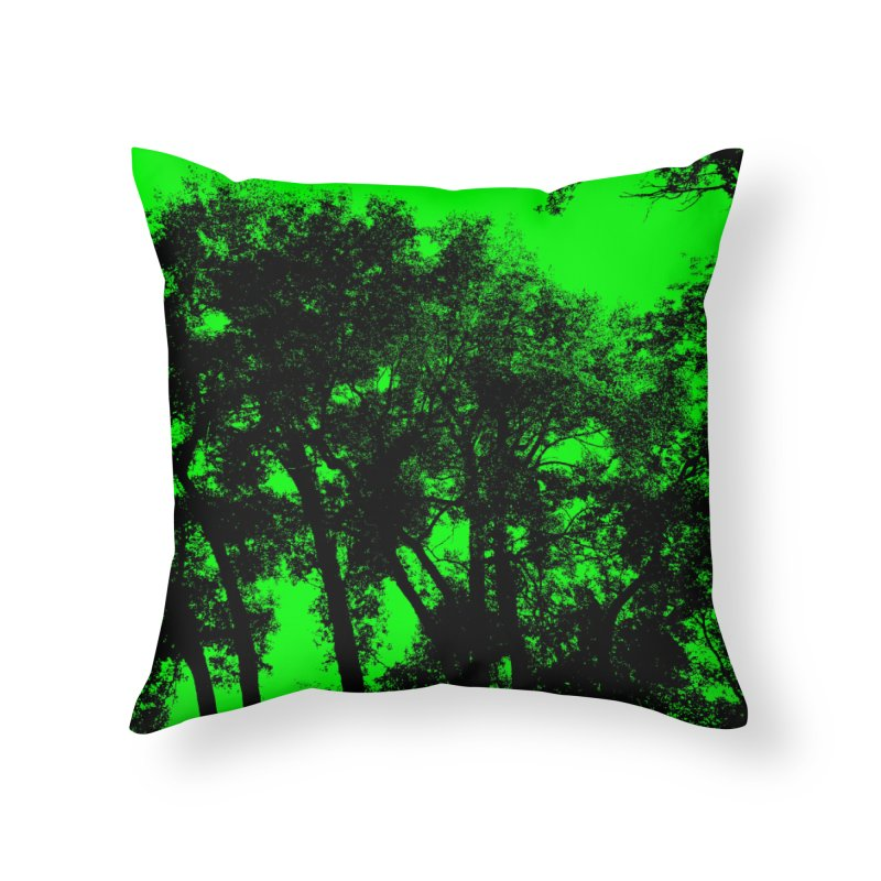 Trees silhoutte on green Home Throw Pillow by nicolekieferdesign's Artist Shop