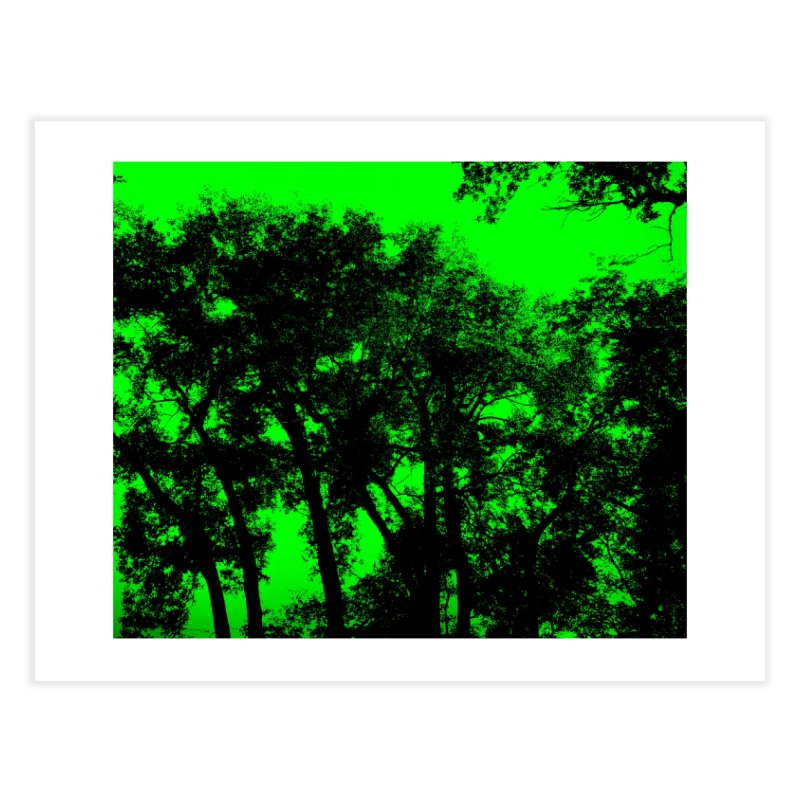 Trees silhoutte on green Home Fine Art Print by nicolekieferdesign's Artist Shop