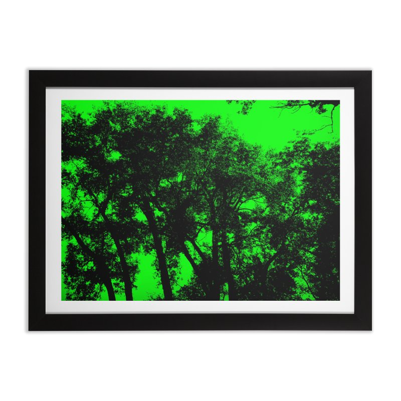 Trees silhoutte on green Home Framed Fine Art Print by nicolekieferdesign's Artist Shop