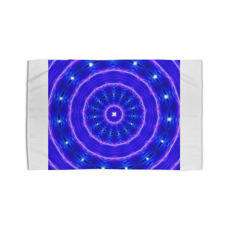 Kaleidoscope in blue and pink with stars Home Rug by nicolekieferdesign's Artist Shop