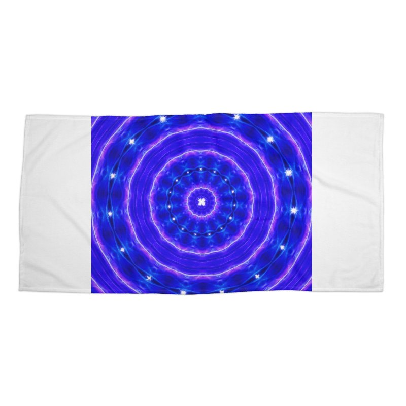 Kaleidoscope in blue and pink with stars Accessories Beach Towel by nicolekieferdesign's Artist Shop