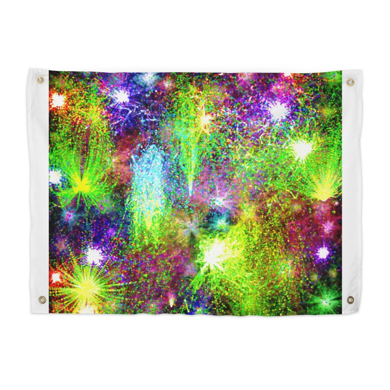 Color Explosion Home Tapestry by nicolekieferdesign's Artist Shop