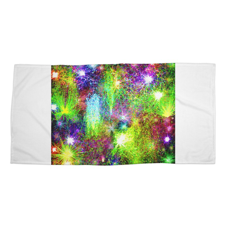 Color Explosion Accessories Beach Towel by nicolekieferdesign's Artist Shop