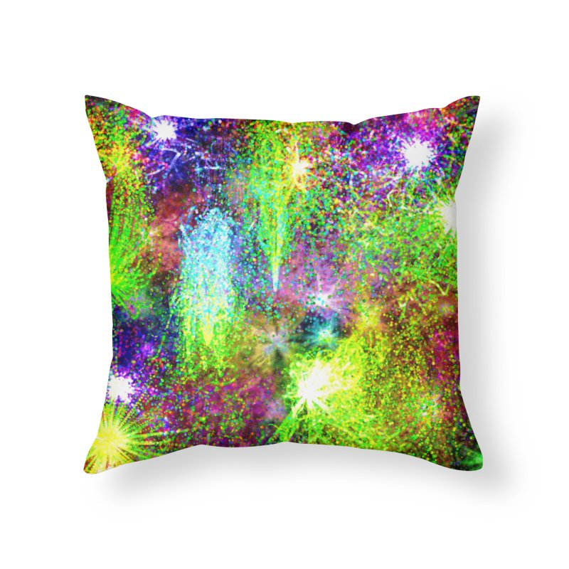 Color Explosion Home Throw Pillow by nicolekieferdesign's Artist Shop